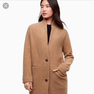 Aritzia Wilfred Camel Dujardin Sweater Coat